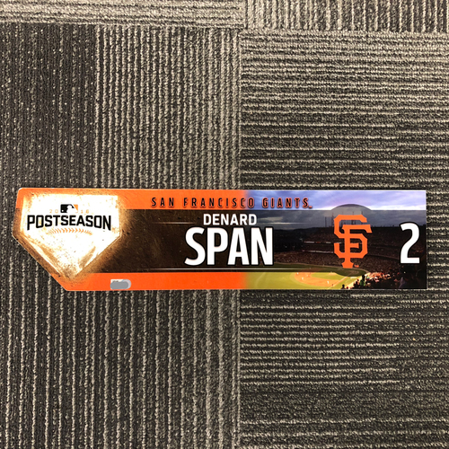 Photo of 2016 Postseason Game-Used Locker Tag - #2 Denard Span