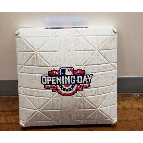 Photo of Game-Used Opening Day Base: Baltimore Orioles at Boston Red Sox - 3rd Base Used in 9th Inning - 4/11/16