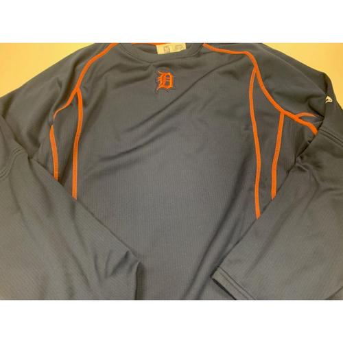 Photo of 2016 Team-Issued #34 Road Batting Practice Sweatshirt