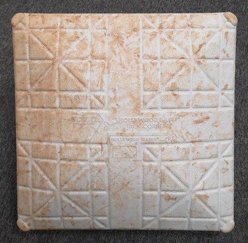 Photo of Authenticated Game Used Base - 1st Base for Innings 1 to 5 (March 25 and 26, 2019) in Montreal vs Brewers