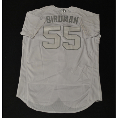 "Photo of Jon ""BIRDMAN"" Berti Miami Marlins Game-Used 2019 Players' Weekend Jersey"