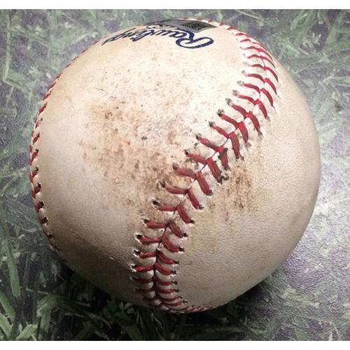 Game-Used Baseball ARI@MIL 05/27/17 - Zack Greinke - Chase Anderson: Strikeout