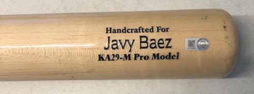 Photo of 12 Days of Auctions: Day 6 -- Javier Baez Team-Issued Cracked Bat -- 2019 Season