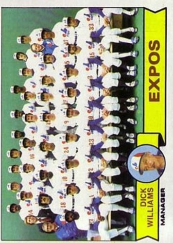 Photo of 1979 Topps #606 Montreal Expos CL/Dick Williams MG