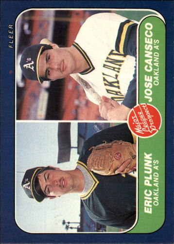 Photo of 1986 Fleer #649 Jose Canseco RC
