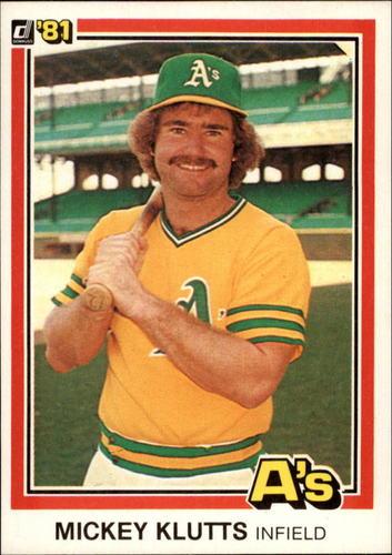 Photo of 1981 Donruss #110 Mickey Klutts
