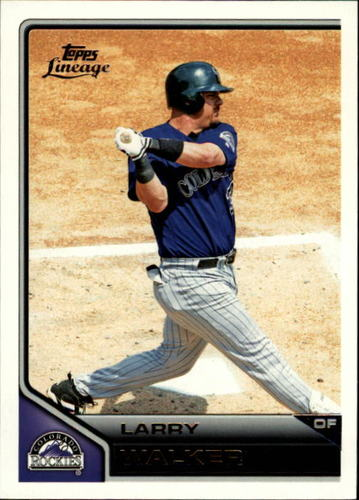 Photo of 2011 Topps Lineage #19 Larry Walker