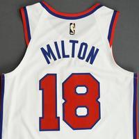 Shake Milton - Philadelphia 76ers - Game-Worn Classic Edition 1970-71 Home Jersey - 2019-20 Season