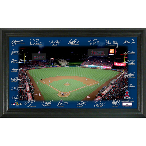Photo of Los Angeles Angels 2020 Signature Field Limited Edition Frame