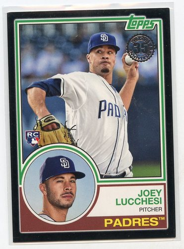 Photo of 2018 Topps Update '83 Topps Black #835 Joey Lucchesi 010/299