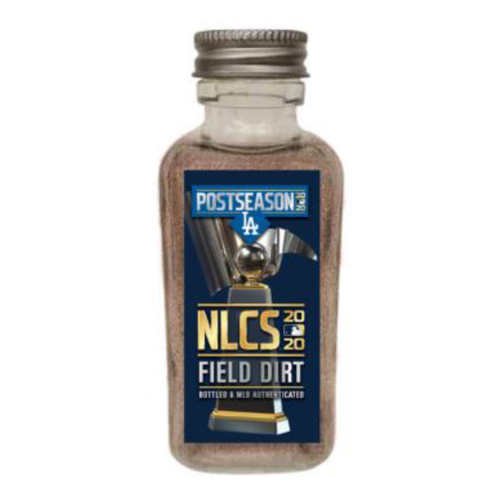 Photo of Game-Used Dirt Jar - 2020 NLCS - Atlanta Braves v. Los Angeles Dodgers - Game 7 - Dodgers win the National League Pennant