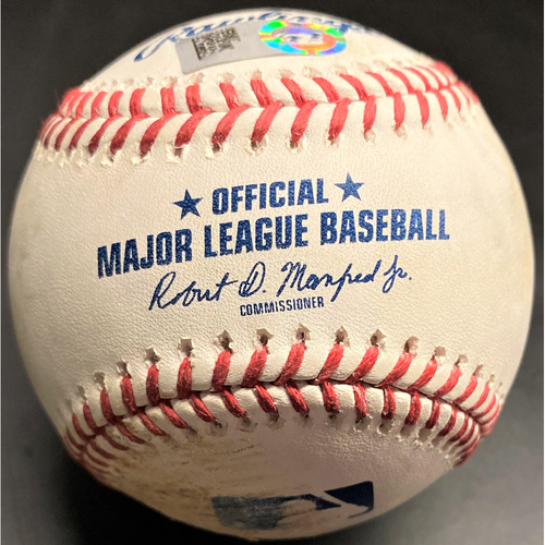 Photo of Game-Used Baseball: Christian Yelich Milwaukee Brewers Walk (MLB AUTHENTICATED)