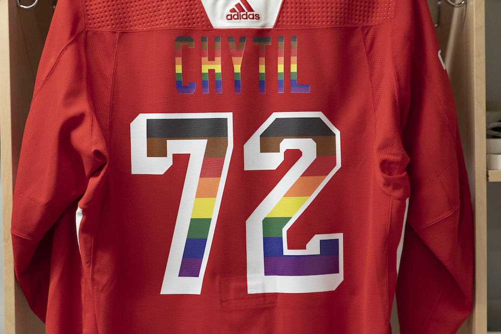 Autographed Pride Night Warm-Up Jersey: #72 Filip Chytil - New York Rangers