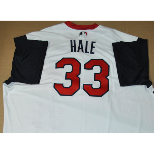 Photo of Game-used Jersey - 2021 Little League Classic - Los Angeles Angels vs. Cleveland Indians - 8/22/2021 - Great Lakes, Player Name: DeMarlo Hale #33