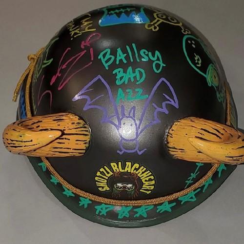 Shotzi Blackheart SIGNED and Decorated Replica Helmet