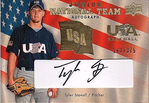 Photo of 2008 Upper Deck USA Junior National Team Autograph #TS Tyler Stovall AUTO /375