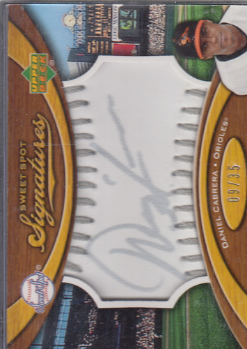 Photo of 2007 Sweet Spot Signatures Silver Stitch Silver Ink #DC Daniel Cabrera/35