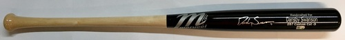 Photo of Dansby Swanson Autographed Game Model Marucci Bat