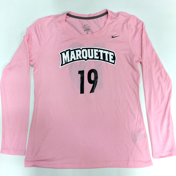 Photo of 2017 Marquette Women's Soccer 'Kick for a Cure' Jersey #19 (Size M)