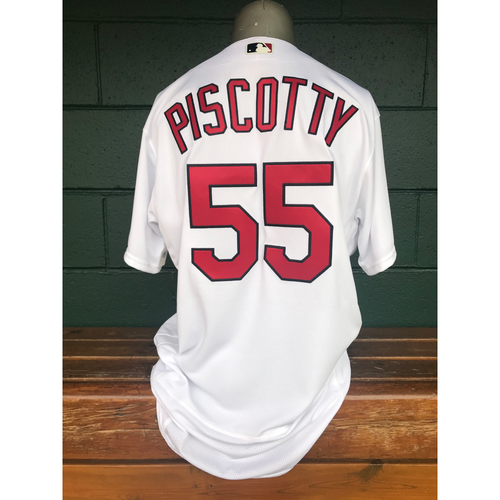 Photo of Cardinals Authentics: Stephen Piscotty Team-Issued Home White Jersey