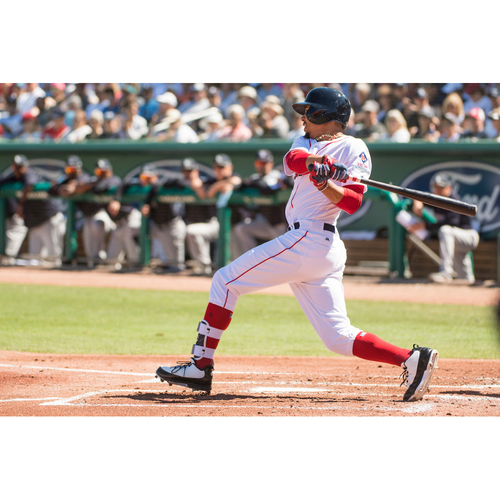 Photo of Red Sox Foundation Game Day - Mookie Betts Team-Issued or Game-Used and Autographed Jersey (Pre-Game Sale)