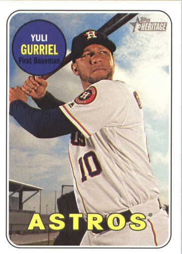 Photo of 2018 Topps Heritage #208 Yuli Gurriel