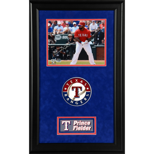 "Photo of Prince Fielder Texas Rangers Deluxe Framed Autographed 8"" x 10"" Photo"