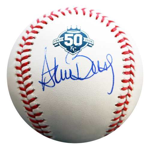 Photo of Autographed 50th Season Baseball: Steve Busby