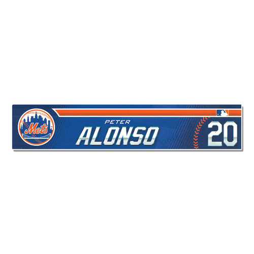 Photo of Pete Alonso #20 - Game Used 2019 Spring Training Locker Nameplate - Mets vs. Astros - 2/24/2019