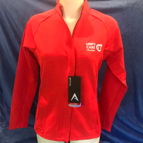 Photo of UMPS CARE AUCTION: UMPS CARE Antigua Women's Travel Zip Up Performance Jacket, Red, Size Large