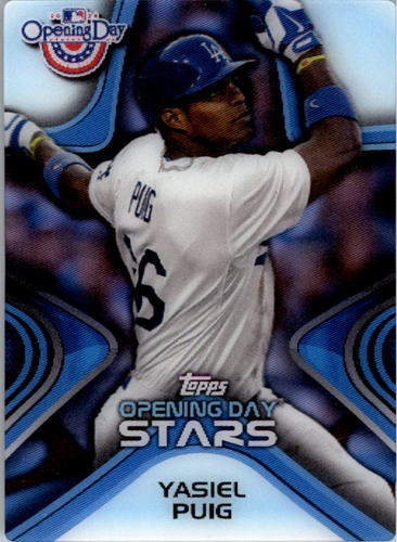 Photo of 2014 Topps Opening Day Stars #ODS15 Yasiel Puig