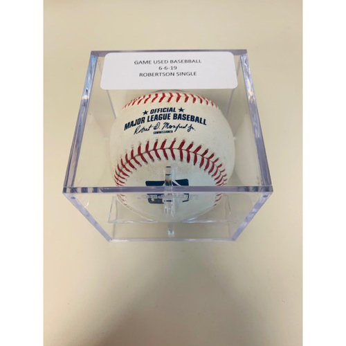 Photo of Game-Used Baseball: Daniel Robertson Single