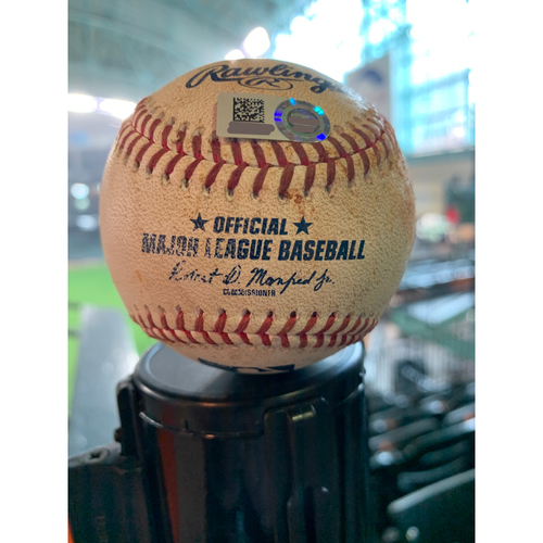Photo of 2019 Game-Used Baseball  8/19/19 Astros vs. Tigers: Wade Miley to Miguel Cabrera - Top 3rd (Single to LF)