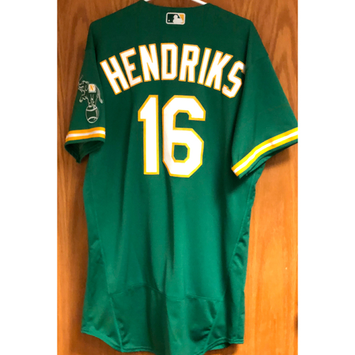 Photo of Game-Used Jersey - Liam Hendriks (Saves 8 & 9) - 8/19/20, 8/21/20
