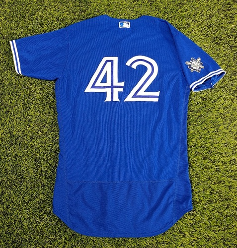 Photo of CHARITY AUCTION: Authenticated Team Issued #42 Jersey: Charlie Montoyo (2020 Season). Size 44.