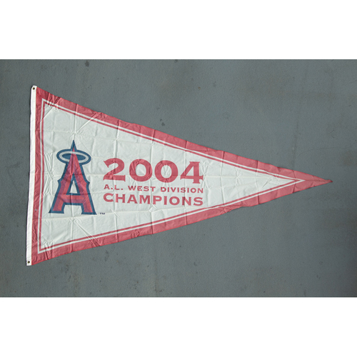 Photo of Los Angeles Angels 2004 American League West Division Champions Team-Issued Pennant