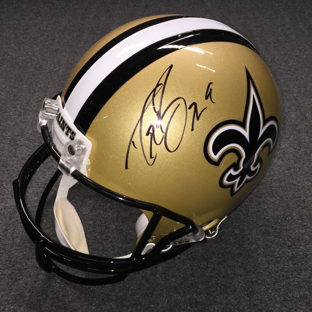 Saints Drew Brees Signed Replica Helmet