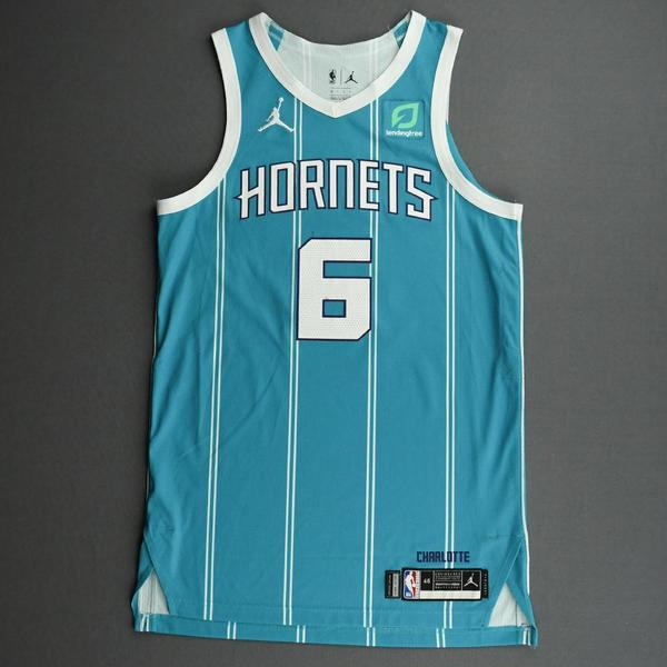 Image of Jalen McDaniels - Charlotte Hornets - Game-Worn Icon Edition Jersey