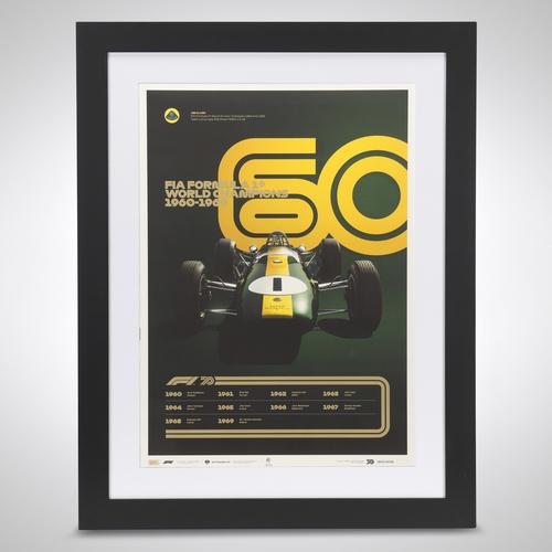 Photo of World Champions Automobilist Poster 1960 - 1969