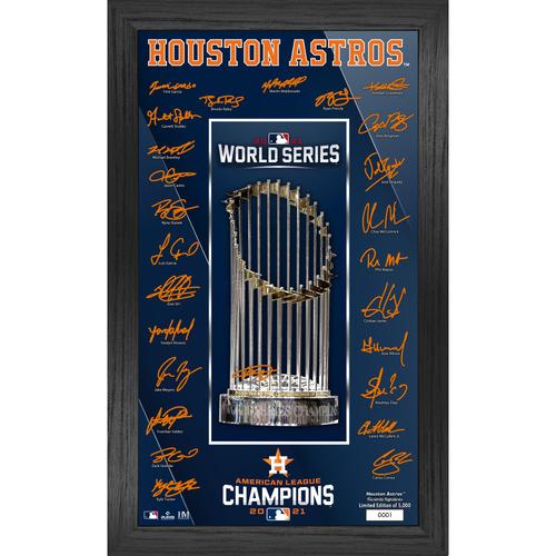 Photo of Houston Astros 2021 American League Champions Signature Trophy LE #1