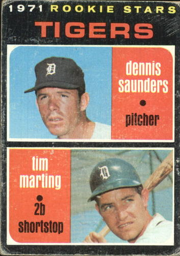 Photo of 1971 Topps #423 Rookie Stars/Dennis Saunders RC/Tim Marting RC