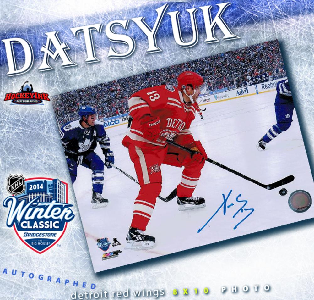 PAVEL DATSYUK Signed  2014 NHL Winter Classic Detroit Red Wings 8 X 10 Photo - 70024