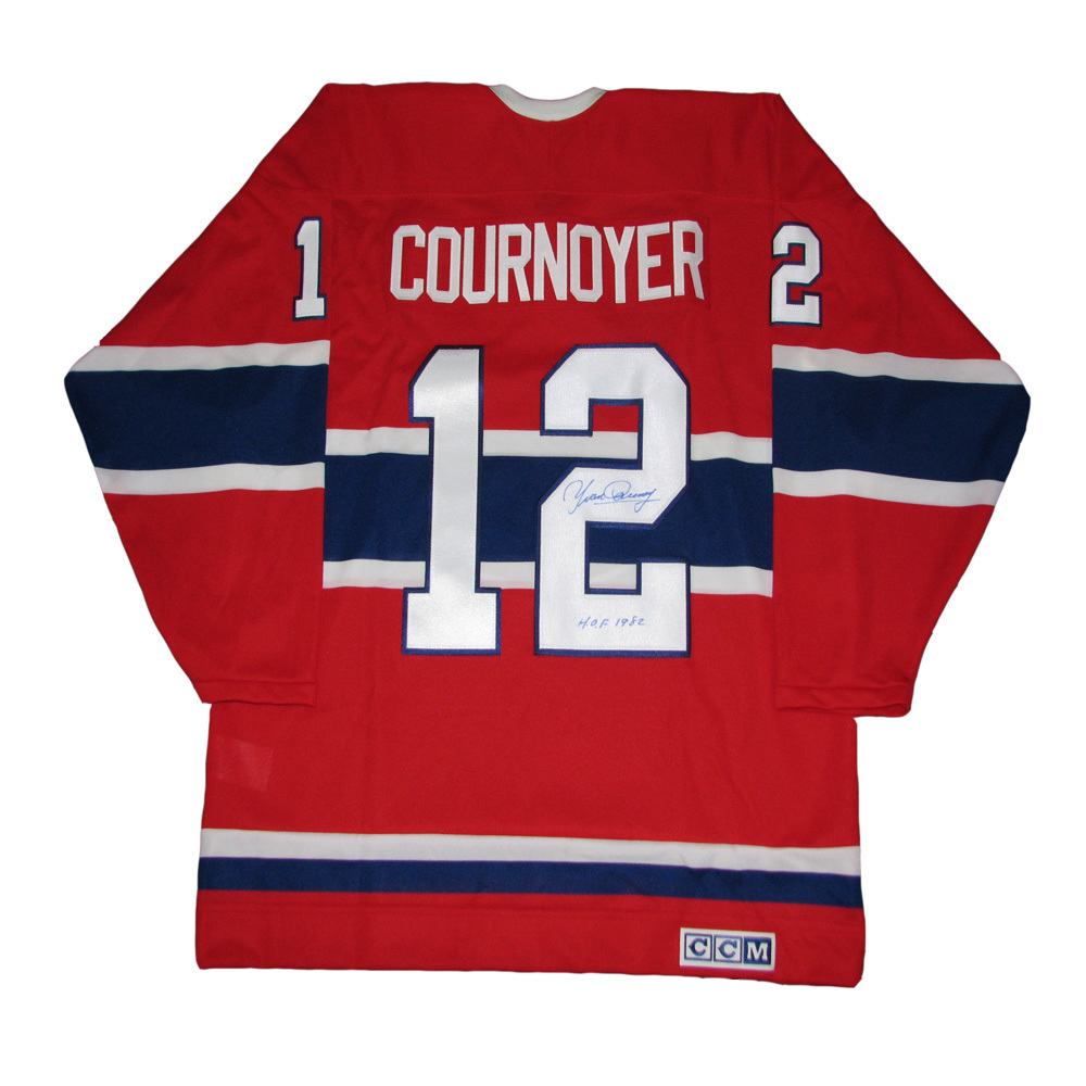 4103f53b206 YVAN COURNOYER Signed Montreal Canadiens Vintage Red CCM Jersey ...