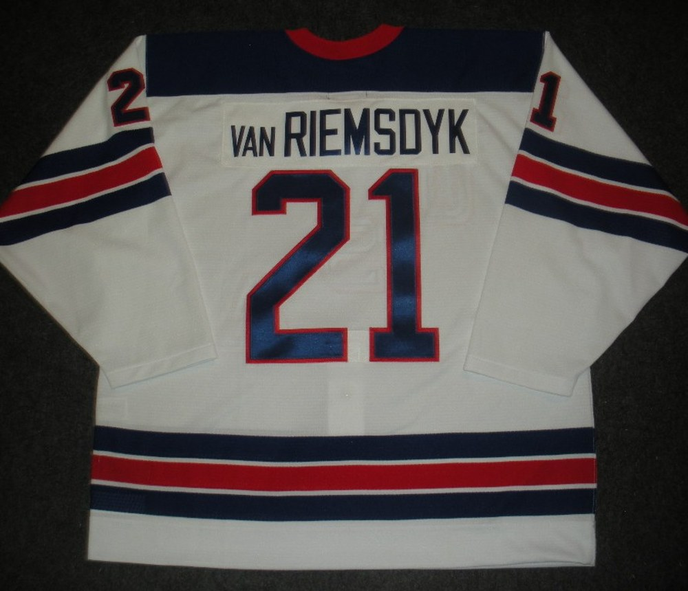 James van Riemsdyk - Sochi 2014 - Winter Olympic Games - Team USA Throwback Game-Worn Jersey - Worn in 2nd and 3rd Periods vs. Slovenia, 2/16/14