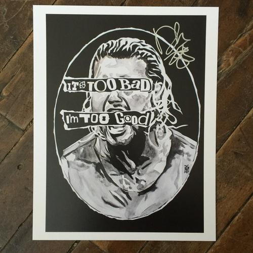 Dolph Ziggler SIGNED 11 x 14 Rob Schamberger Print
