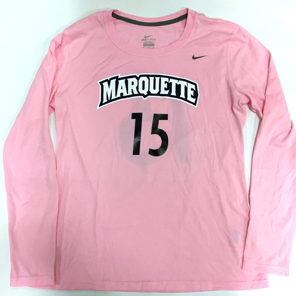 Photo of 2017 Marquette Women's Soccer 'Kick for a Cure' Jersey #15 (Size M)