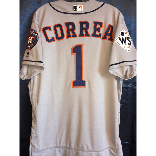 Photo of World Series Game 1 - Carlos Correa Game-Used Road Jersey