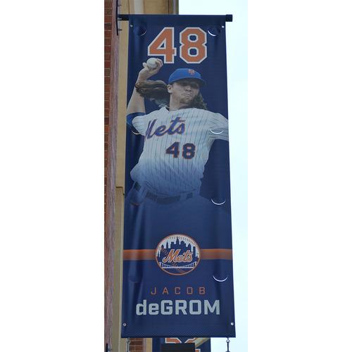 Photo of Jacob deGrom - Citi Field Banner - 2017 Season
