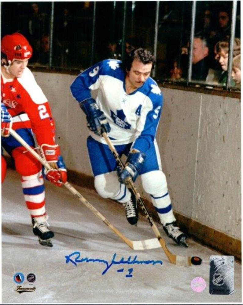 Norm Ullman Signed 8x10 Unframed Leafs