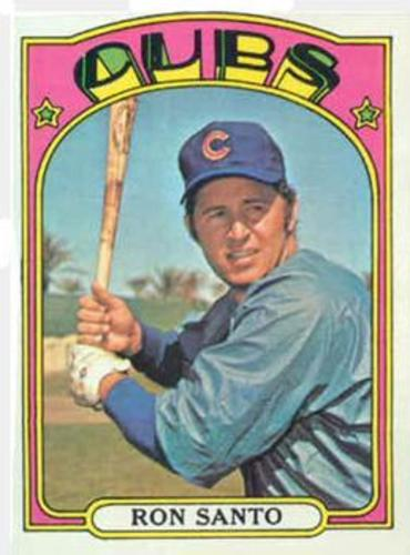 Photo of 1972 Topps #555 Ron Santo -- Hall of Fame Class of 2012